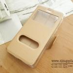 เคส iPhone7 Plus ฝาพับ สีทอง