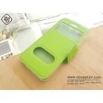 เคส Oppo Mirror5 ฝาพับ สีเขียว