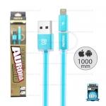 สายชาร์จ 2in1 (i5/i6/i7&Micro USB) AURORA Remax สีฟ้า
