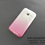 เคส Samsung J1 mini กากเพชรไล่สี 2 ชั้น สีชมพู
