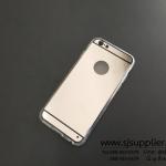 เคส iPhone6/6s TPU ชุบสีสะท้อน สีเงิน