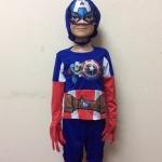 ชุดกัปตันอเมริกา Captain America มีถุงมือ มีไฟกระพริบ