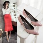 Preorder รองเท้าแฟชั่น สไตล์เกาหลี 35-40 รหัส 9DA-9133