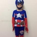 ชุดกัปตันอเมริกา Captain America มีถุงมือ มีโล่ติดด้านหลัง มีไฟกระพริบ