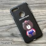 ฺเคส iPhone 7 หมีบราวน์ สีดำ BKK