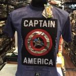 กัปตันอเมริกา สีม่วง (Captain shield square black)