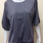 เสื้อคอกลมผ้าซาร่า By PISTA สีเทา Size 44