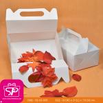 กล่องหูหิ้ว ทรงสี่เหลี่ยนผืนผ้า ขนาด 13.0 x 21.0 x 7.5 ซม (ปริมาตรบรรจุ) (บรรจุ 50 กล่องต่อแพ็ค)