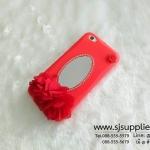 เคส Vivo V5/V5s ดอกไม้ กระจก สีแดง