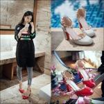 Preorder รองเท้าแฟชั่น สไตล์ เกาหลี 33-43 รหัส 9DA-2508