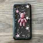 เคส iPhone 7 หมีอวกาศสีชมพู เคสดำ BKK