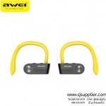 หูฟังบลูทูธ Awei T2 สีเหลือง BKK