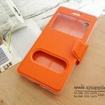 เคส iPhone7 Plus ฝาพับ สีส้ม