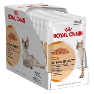 อาหารแมวแบบเปียก Royal Canin Intense Beauty สามโหล1180รวมส่ง