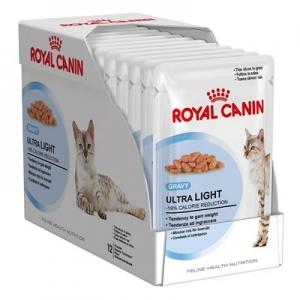 อาหารแมวแบบเปียก Royal Canin Ultra light สามโหล1180รวมส่ง