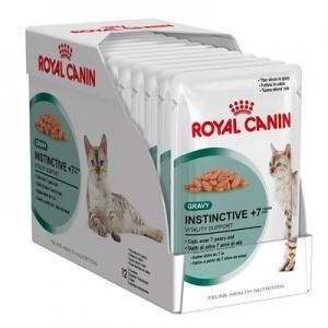 อาหารแมวแบบเปียก Royal Canin Instinctive +7 สามโหล1180รวมส่ง