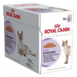 อาหารแมวแบบเปียก Royal Canin Sterilised สามโหล1180รวมส่ง