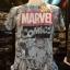 โลโก้มาร์เวล คอมมิค สีขาว (Marvel comic logo white) thumbnail 1