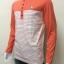 เสื้อยืดแขนยาวคอกลม สีส้ม+ครีม ลายขวาง thumbnail 3