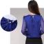 รหัส B71 เสื้อผ้าชีฟองแขนโปร่งคอวี ประดับบริเวณอกด้วยคริสตัลลวดลายสวยเก๋ thumbnail 10