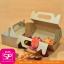 กล่องหูหิ้ว ทรงสี่เหลี่ยนผืนผ้า ขนาด 13.0 x 21.0 x 7.5 ซม (ปริมาตรบรรจุ) (บรรจุ 50 กล่องต่อแพ็ค) thumbnail 1