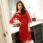 รหัส MN9 เดรสสไตล์เกาหลี ดีเทลผ้าลูกไม้เนื้อดีสวยขึ้นเงาเกรดพรีเมี่ยมปักคริสตัล ช่วงเอว คอกลมแขนยาว ทรงสอบสวย มีซับใน ติดซิปด้านหลัง thumbnail 5