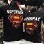 ซุปเปอร์แมน สีดำ (Superman black red yellow logo CODE:0655) thumbnail 1