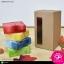 กล่องฝาลิ้นก้นขัด สีคราฟธรรมชาติ มีหน้าต่าง ขนาด 7.3x7.3x13 ซม. (บรรจุแพ็คละ 50 กล่อง) thumbnail 2