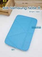 เคสหนัง Samsung note 8 Smart case (Onjess) สีฟ้า