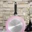 กระทะเคลือบ NONSTICK FRY PAN รุ่น induction ขนาด 26 cm สีชมพู thumbnail 1