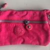 กระเป๋าคล้องมือ ผ้าเนื้อ Kipling สีชมพู