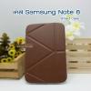 เคสหนัง Samsung note 8 Smart case (Onjess) สีน้ำตาล