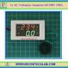 1x Digital AC Voltmeter Ammeter 60-300VAC 100A LED 7's Segment Module (White)