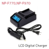 Battery Charger Digital LCD with Car Charger For NP-F770, F970, QM71, QM91