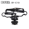 """BOYA BY C10 Universal Camera Microphone Shockmount with 1/4"""" Mounting Thread - Fits the Zoom H4n, H5, H6, Tascam DR-40, DR-05, DR-07 & Similar Recorders"""