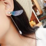 เลือกสีด้านในนะคะ ต่างหู Dragonfly Wings Korea ER6541