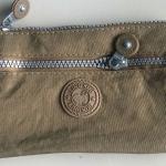 กระเป๋าคล้องมือ ผ้าเนื้อ Kipling สีกาแฟ