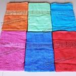 ขายส่ง ผ้าเช็ดตัวคอตตอนจีน ปักชาย ขนาด 70*140 cm ส่ง 43 บาท