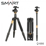 Tripod Q666 Professional + Monopod + Ball Head Load 12kg.