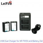 Battery Set LeiFire Dual USB For Sony NP-FW50 with 2*Battery set สำเนา