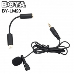 Microphone ไมค์หนีบปกเสื้อ BOYA BY-LM20 Professional Mini USB External Clip for GoPro
