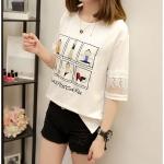 Pre-Order เสื้อยืดแฟชั่น สีขาว (ไซส์ M,L,XL)