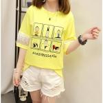Pre-Order เสื้อยืดแฟชั่น สีเหลือง (ไซส์ M,L,XL)