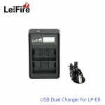 Battery Charger LeiFire Dual USB For Canon LP-E6