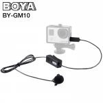 Microphone ไมค์หนีบปกเสื้อ BOYA BY-GM10 Electret Condenser Lavalier for GoPro