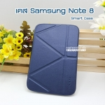 เคสหนัง Samsung note 8 Smart cover (Onjess) สีน้ำเงิน