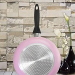 กระทะเคลือบ NONSTICK FRY PAN รุ่น induction ขนาด 26 cm สีชมพู