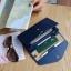 กระเป๋าจัดเก็บพาสปอร์ตสไตส์เกาหลีสีน้ำเงิน thumbnail 3
