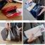 กระเป๋าจัดเก็บพาสปอร์ตสไตส์เกาหลีสีน้ำเงิน thumbnail 9